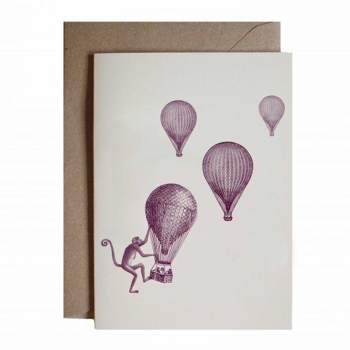 balloon race card